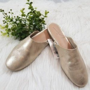 •Universal Thread• Gold Mule Flat Shoes